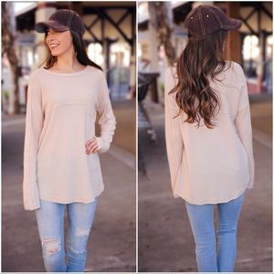 ✨LAST ONE✨Cream Thermal Knit Pocket Tunic